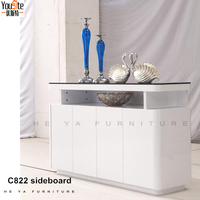 modern dining acacia wood white sideboard buffet C822