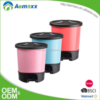 Top sale promotional decorative touchless pedal plastic waste bin trash can