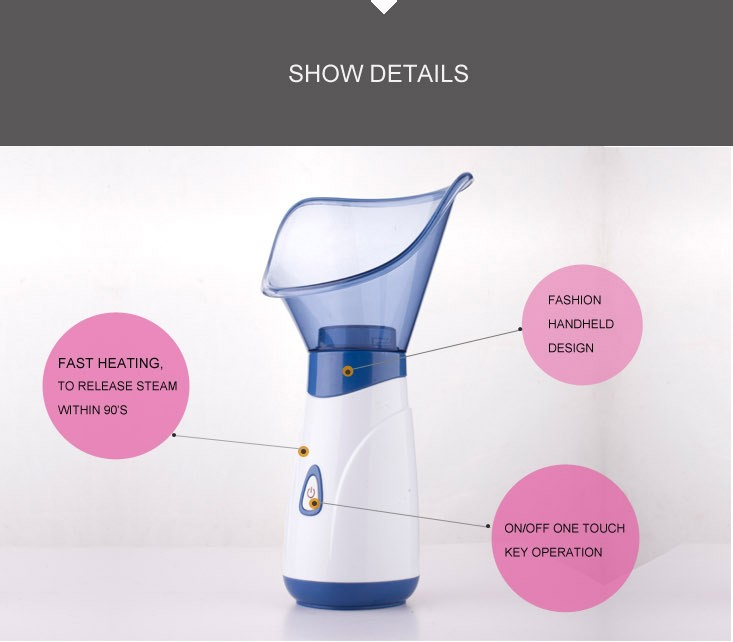 Professional skin care deep cleansing keep moisture mini portable facial steamer