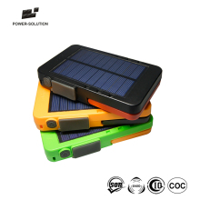 High quality portable cell mobile phone charger solar power bank with led reading light torch