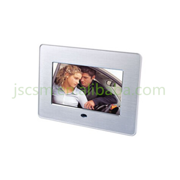 7'' inch TFT screen multifunction video/photo/music digital photo frame rechargeable battery