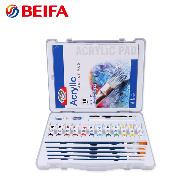 Beifa brand RST80042 Premium Quality Watercolor paint acrylic paint drawing art set