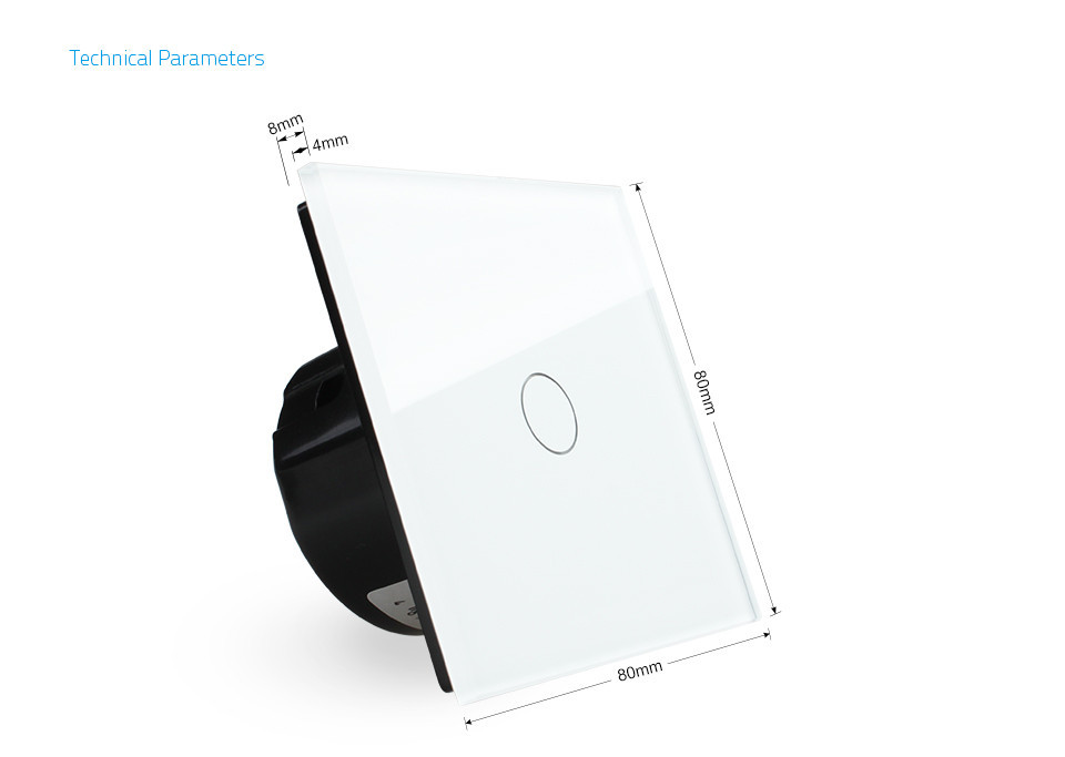Livolo EU Standard,VL-C701B-11, Door Bell, Crystal Glass Switch Panel, 110~250V Touch Screen Wall Door Bell Switch