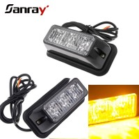 Auto red blue amber 12v waterproof led flashing strobe light