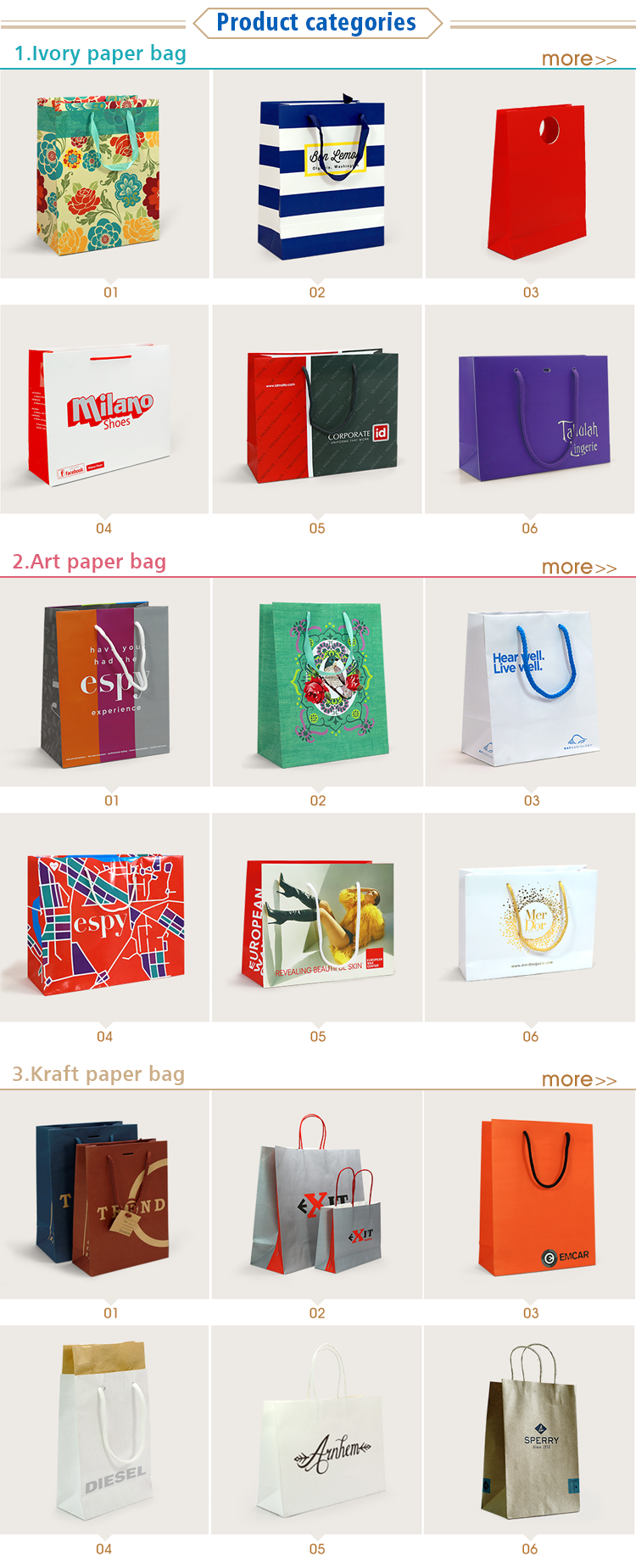 Fashion design printing Lovely Coated Art Paper Bag for Valentine's Day