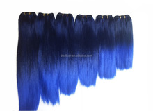 Alibaba China best quality two colored synthetic straight hair, two tone synthetic hair weave