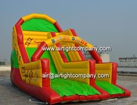 Surf and slide inflatables, commercial inflatable aqua slide made in China