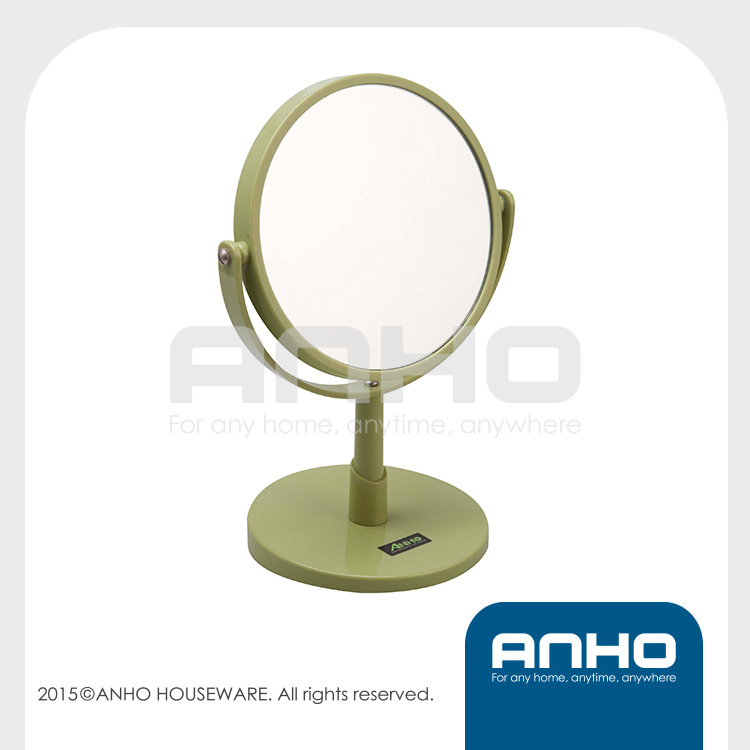 Acrylic Double-sided premium quality free standing makeup mirror, vanity mirror, tabletop mirror