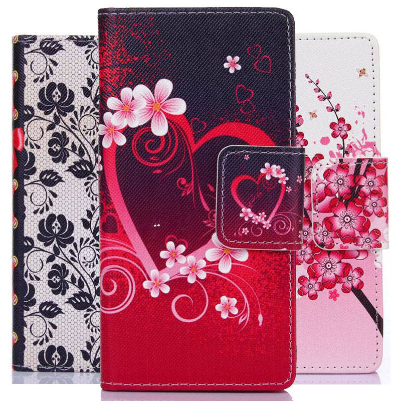 PU Leather Cell Phone Flip Case Cover For Samsung Galaxy S5 S6 S6 edge S7 S7 edge Mini S4 Mini S5 Mini Phone Cases