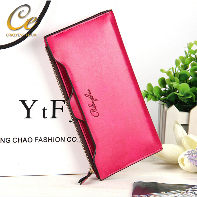 Brand PU leather clutch women wallet for ladies