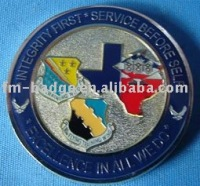 Army metal challenge souvenir commemorative coin Desert Shield/Desert Storm, silver metal military masonic coin