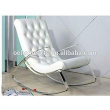 Modern white leather single sitting home funiture recliner chair sofa