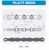 FLAT CHAIN FOR PLATT BROS CARDING MACHINE