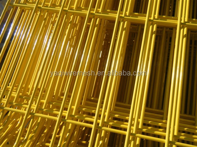 3.5mm Yellow Pvc Coating Welded Panel/Welded Wire Mesh Panel(Anping Factory)