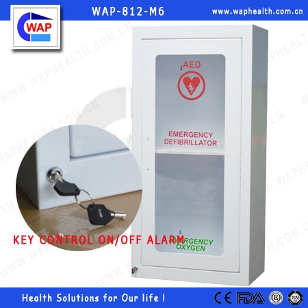 Trade Assurance WAP AED wall cabinet with alarm first aid medical cabinet in hospital