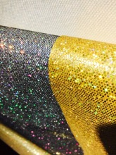 2017 Shiny colored printed glitter leather for bags and shoes