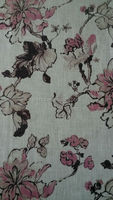 Flower Patterns 100% Polyester Paper Printing linen Fabrics (TEY785)
