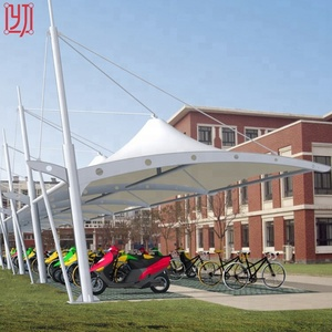 Cheap curved tensile membrane steel structure carports