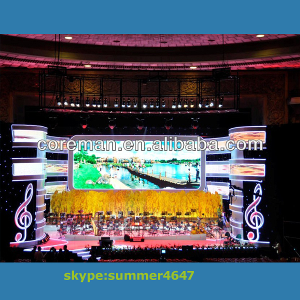 animation programm Coreman P1.875 indor & outdoor full color concert stage rental led display