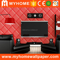 Latest Waterproof 3d Embossed PVC Wall Papers Decor Design Washable Interior TV Background Decorative Home Wallpaper