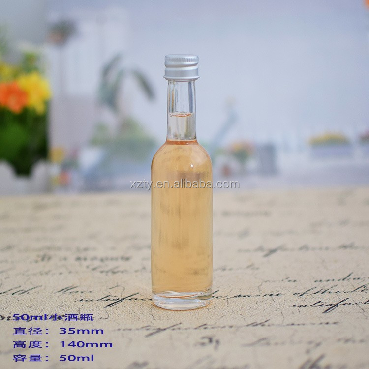 wholesale 50ml empty mini liquor bottles