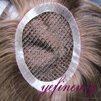 High Quality Virgin Hair Fishnet Toupee Factory