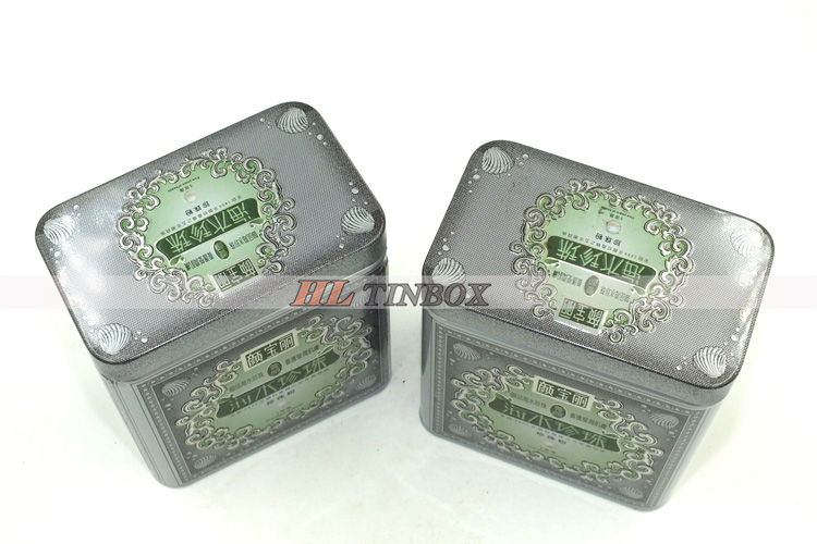 Square Embassed Facail Mask Cosmetics Packaging Tin Box