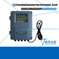 Clamp transducer ultrasonic flow meter