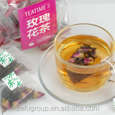China natuare organic rose black tea bag price