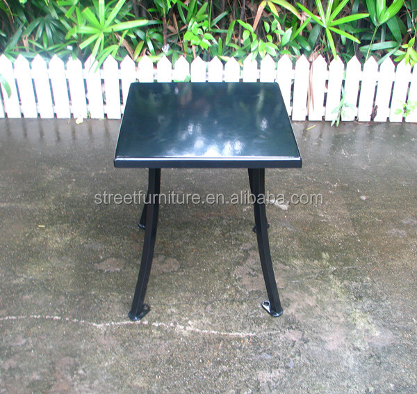 Powder coated outdoor metal end table
