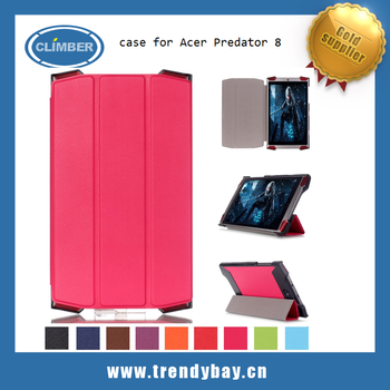Flip leather smart stand case cover for Acer Predator 8