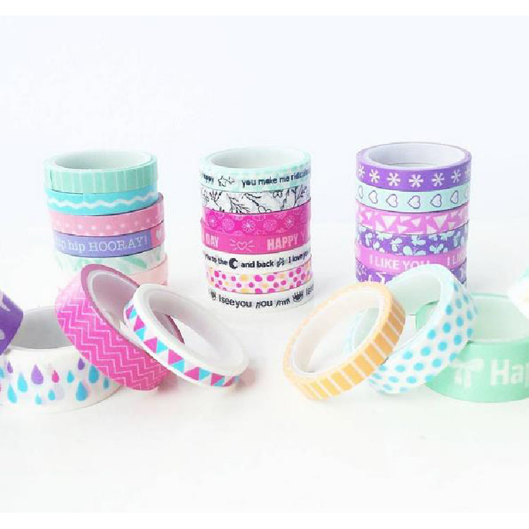 Beautiful diy decorative japanese cutom washi tape