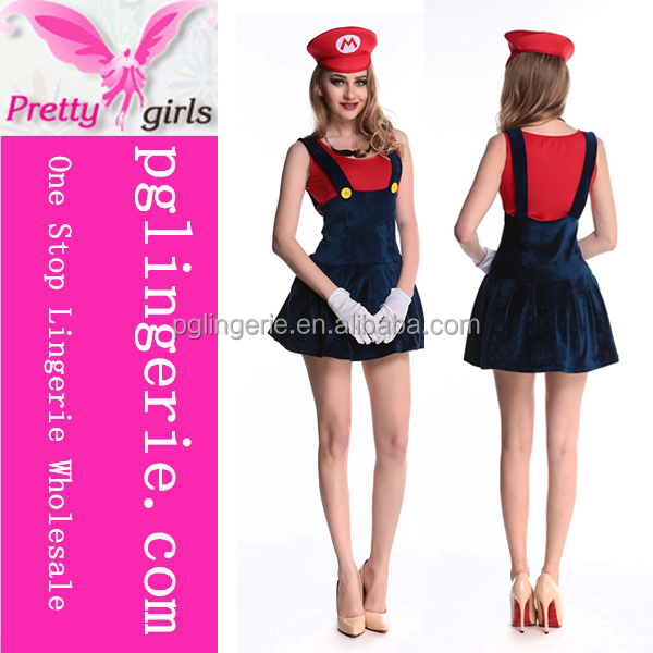Super Mario girl cosplay costumes New Arrival game role player sexy women party costumes