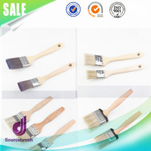 factory custom decorative wall nylon pig bristle long handle angle paint brush
