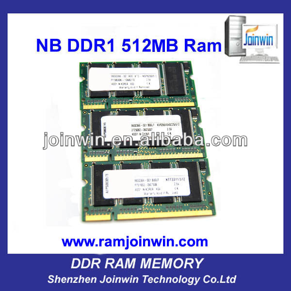 Used computer parts cheap laptop ddr 512mb ram upgrade