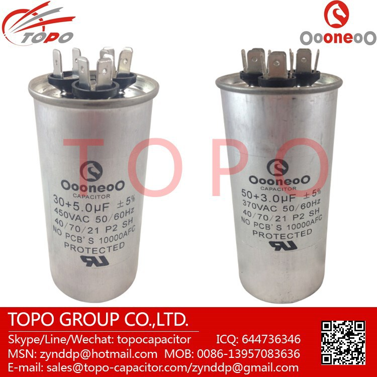 20 MFD 370 V Round Run Capacitor with oooneoo Brand