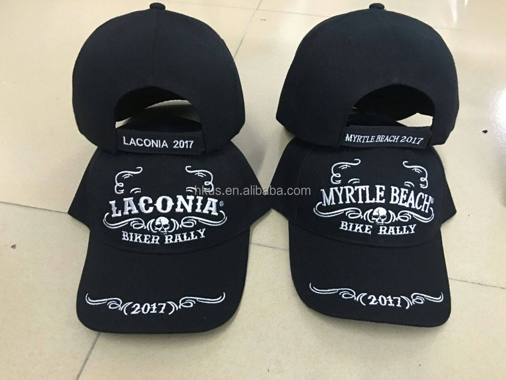 Caps Laconia Biker Rally head wear for men new style high quality cheap price embroidery baseball cap Mrytle Beach Bike Rally