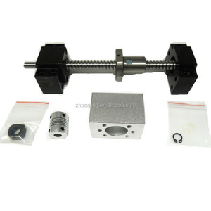 SFU1204 set L-700mm rolled ball screw C7 with end machined + 1204 ball nut + nut housing+BK/BF10 end support + coupler