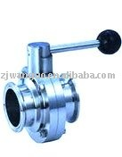 stainless steel forged 3 piece butterfly valve with trigger handle