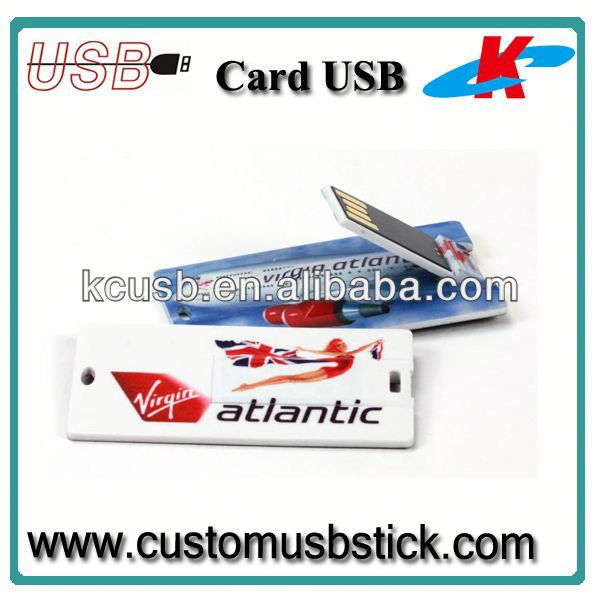 usb credit card drive plastic dark red