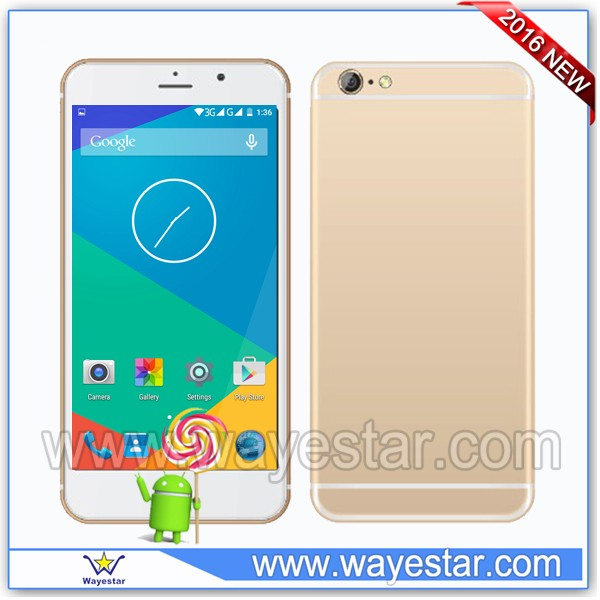 Low cost 6 inch unlock quad core 3g android mobile phone