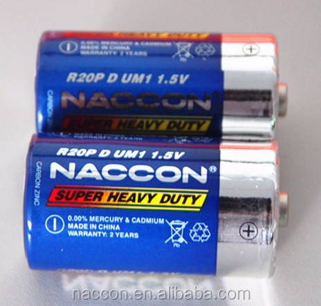 Two pack LR20 DAMI 1.5V NACCON