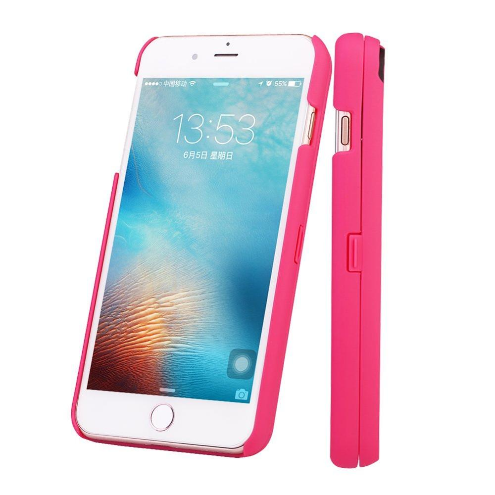 PC Plastic Back Cover Phone Case Can Open Phone Case With Card Slot Holder Mirror For iPhone 7 7plus