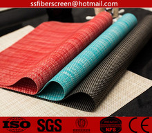 PVC coated polyested placemats dinning breakfast table place mat