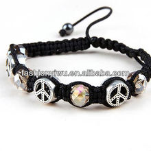 Fashion Simple Style Woven Bracelet/Round Bead String up Bracelets