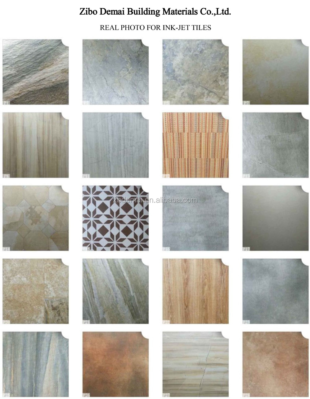 P88 china supplier rustic glazed ink-jet ceramic tiles cheap price ...