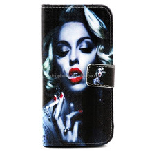 "PU leather cell phone case for iphone 6 4.7"", 30 pattern for seletion"