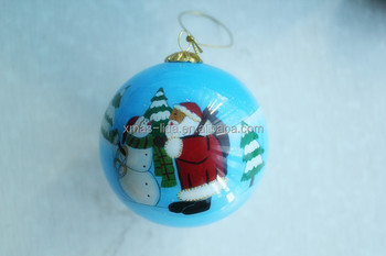 Hand Painted Glass Christmas Ornament Balls