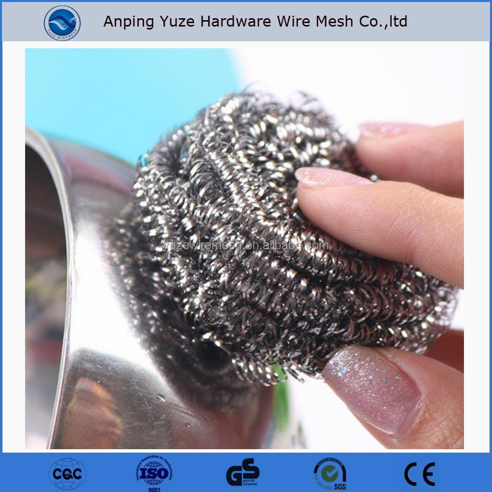 Export Cheap Goods Household Items Stainless Steel Wire Pot Scrubber in anping