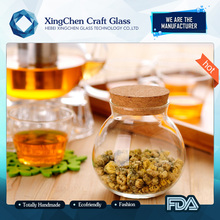 wholesale personalized high borosilicate antique decorative glass herb storage jars